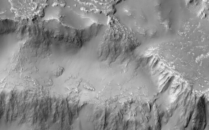 Catarata de lava em Marte
