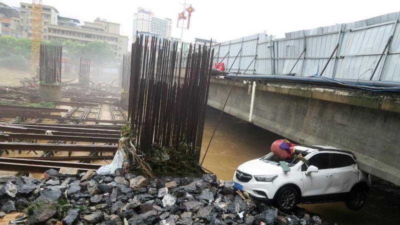 Inundações no sul da China