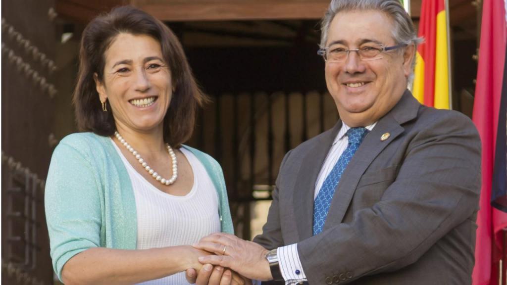 Constança Urbano de Sousa e o ministro espanhol Juan Ignacio Zoido