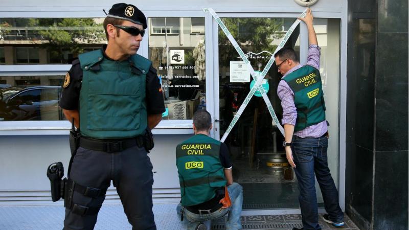 Guardia Civil - Operação contra Camorra (Barcelona)