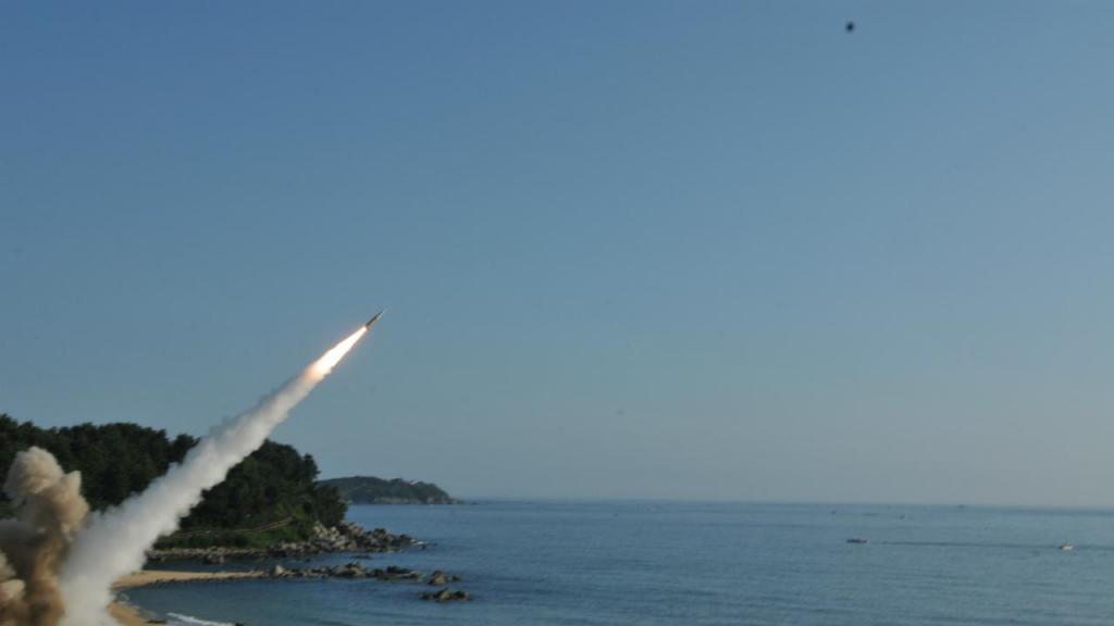Teste militar na Coreia do Sul