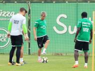 Fábio Coentrão a treinar no Sporting