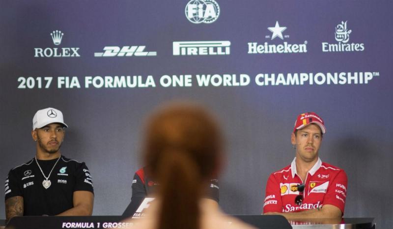 Lewis Hamilton e Sebastian Vettel