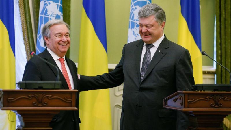 António Guterres e Petro Poroshenko