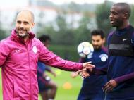 Manchester City - Guardiola e Yaya Touré