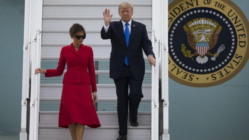 Donald Trump já chegou a Paris