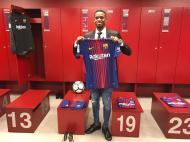 Nélson Semedo com a camisola do Barça (Foto Barcelona)