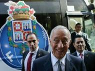 Marcelo Rebelo de Sousa com o FC Porto no México (JOSÈ COELHO/LUSA)
