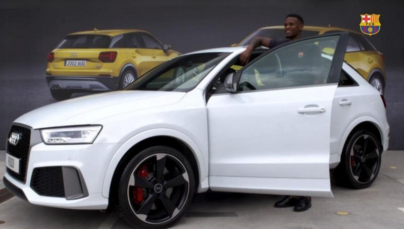 Nélson Semedo recebe as chaves de um Audi RS Q3