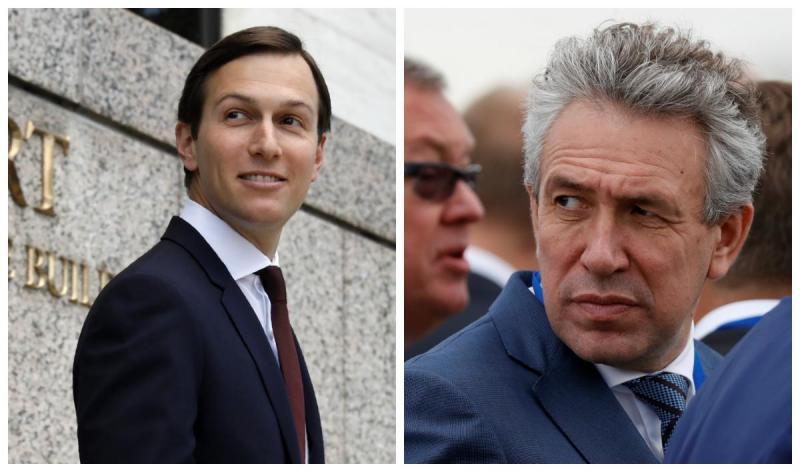 Jared Kushner (consultor e genro de Donald Trump) / Sergei Gorkov (banqueiro russo)