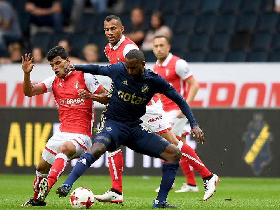 LE: Sp. Braga-AIK, 2-1 a.p. (resultado final)