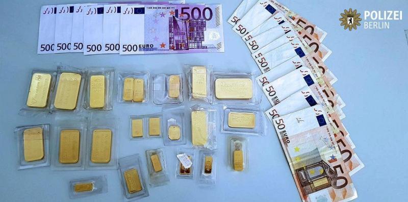 Dinheiro e ouro - Polícia Berlim