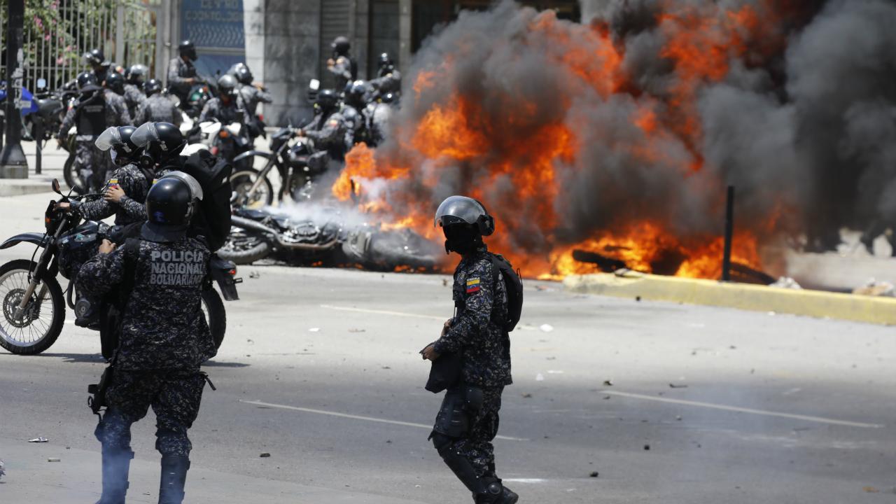 Venezuela - confrontos em Caracas