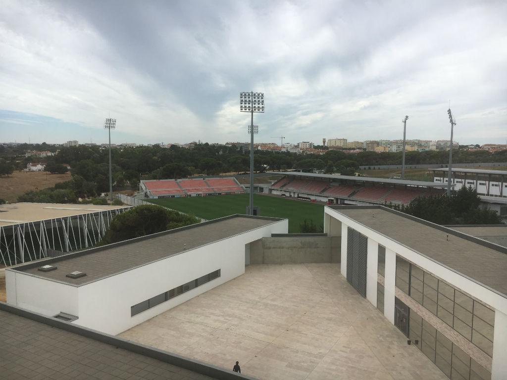 Caixa Futebol Campus em obras