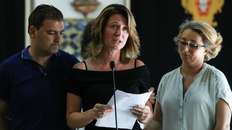 Representante da Associação das Vítimas de Pedrógão Grande, Nádia Piazza, fala aos jornalistas após audiência no Palácio de Belém, em Lisboa