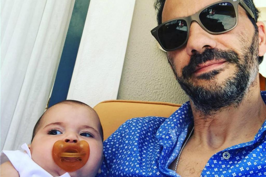 Pedro Ribeiro e a filha Carminho