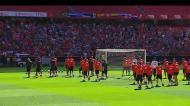 A receção ao Benfica no treino no Estádio da Luz
