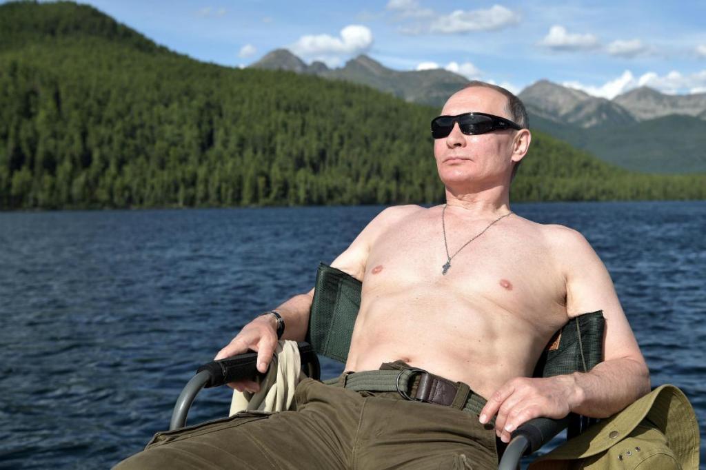 Vladimir Putin aproveitou uns dias de férias na Sibéria