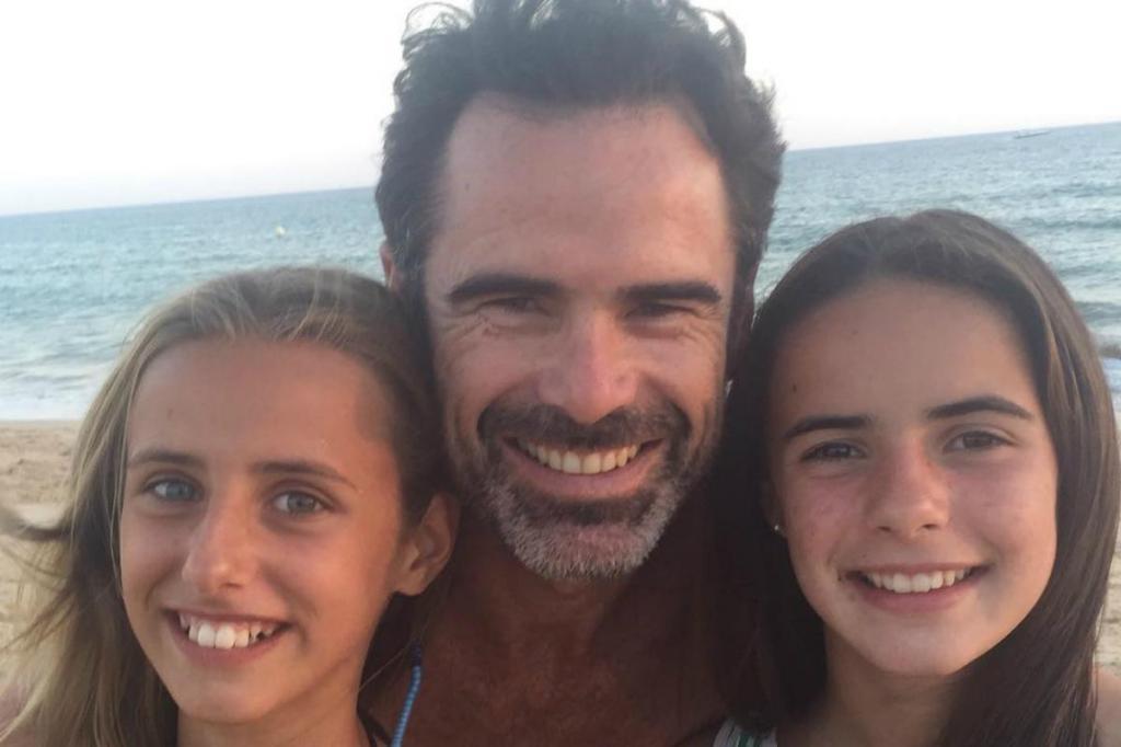 Pedro Lima e as filhas