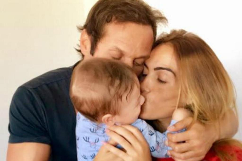 José Carlos Pereira, Liliana Aguiar e o filho do casal, Salvador