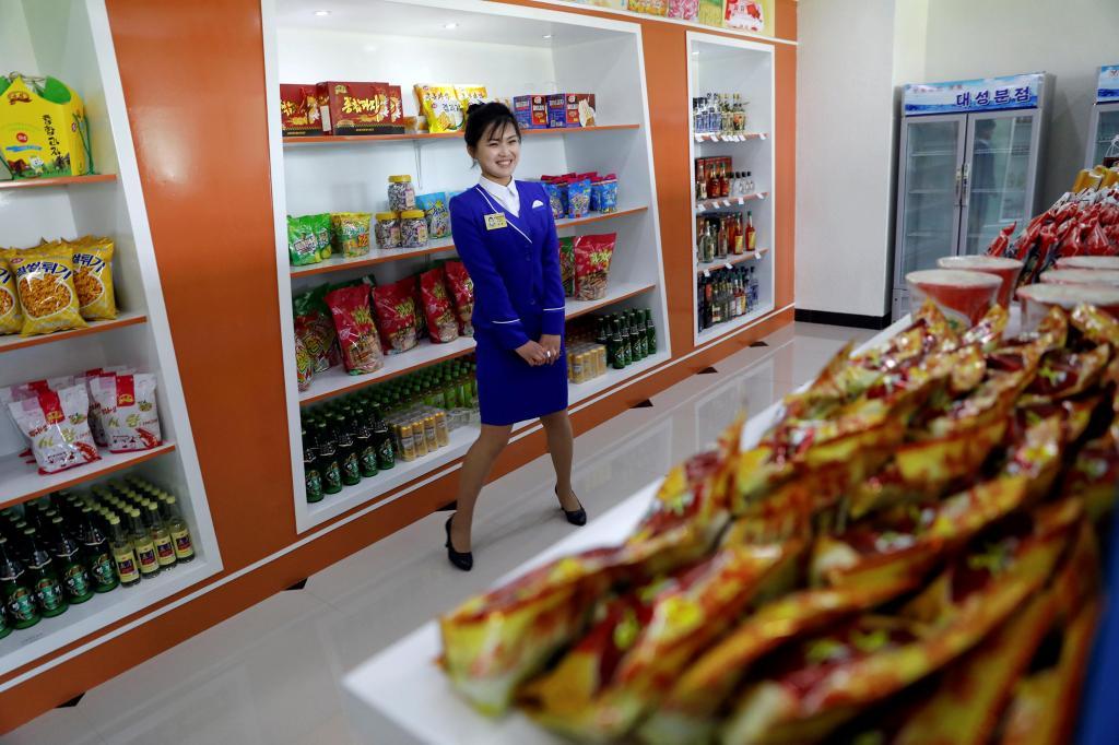 Sabe como são as lojas na Coreia do Norte?