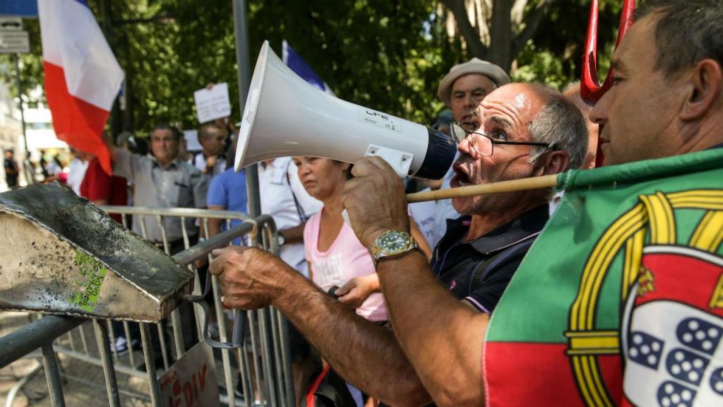 Protesto de emigrantes lesados do BES