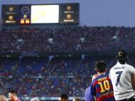 Cristiano Ronaldo e Messi (Lusa)