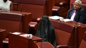 Deputada leva burqa para o senado