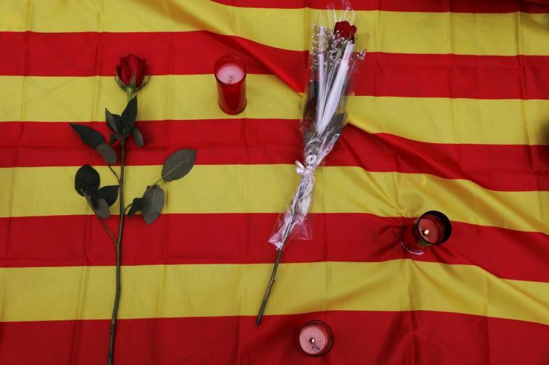 Homenagem às vítimas do ataque nas Ramblas