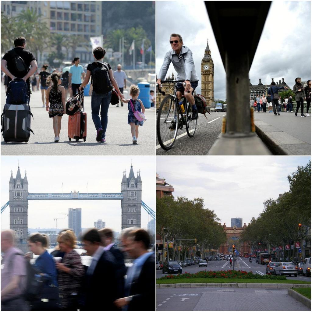 Nice, Londres e Barcelona
