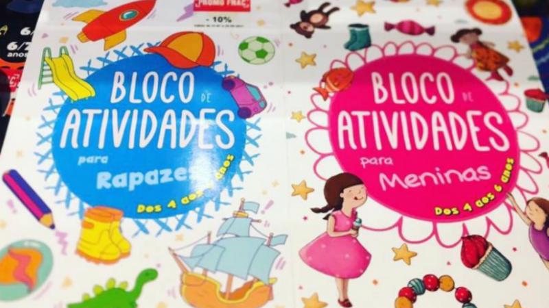 Polémica sobre livros de exercícios da Porto Editora diferentes para meninos e meninas