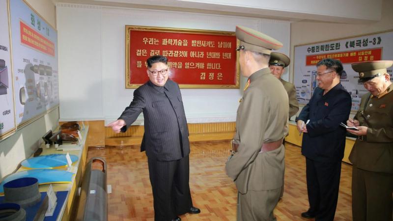 Kim Jong-un visita Academia das Ciências da Defesa