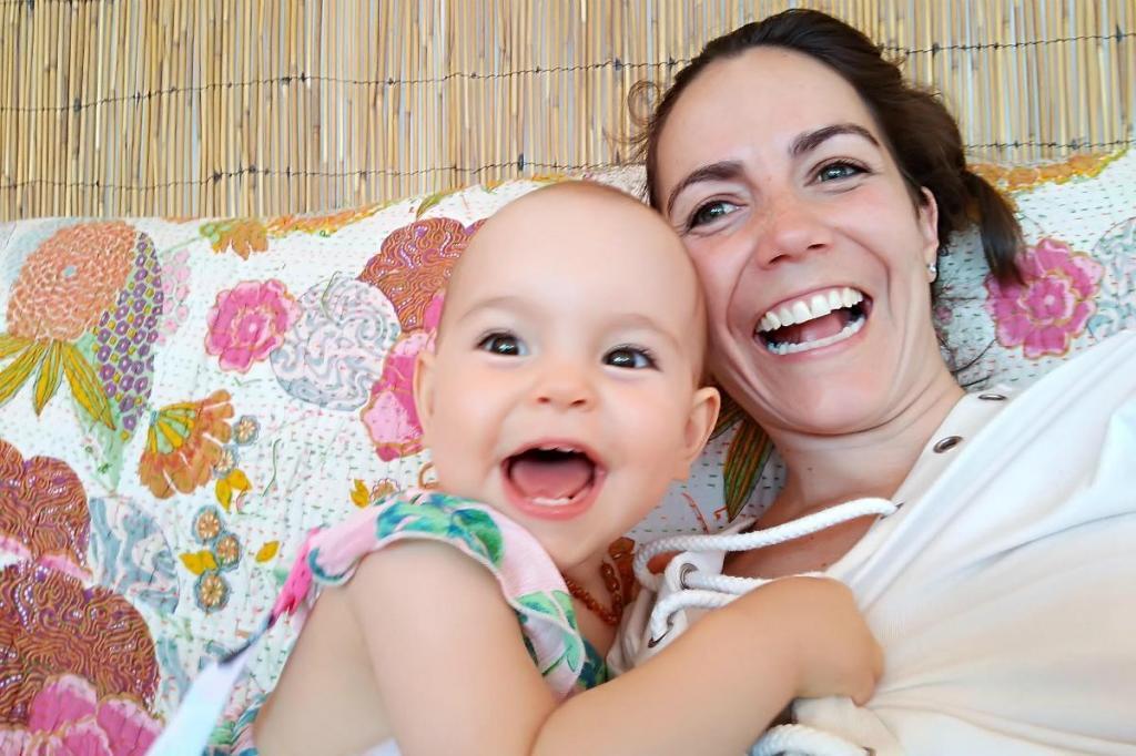 Tatiana Figueiredo com a filha, Laura