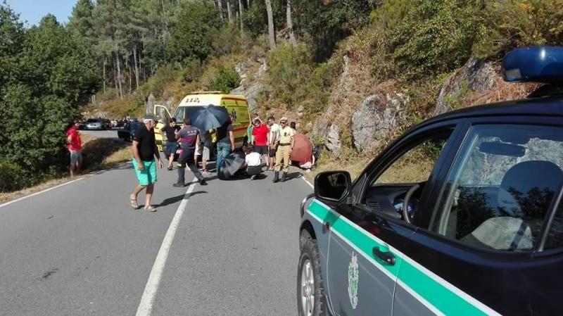 Socorro da GNR em Lobios, Espanha