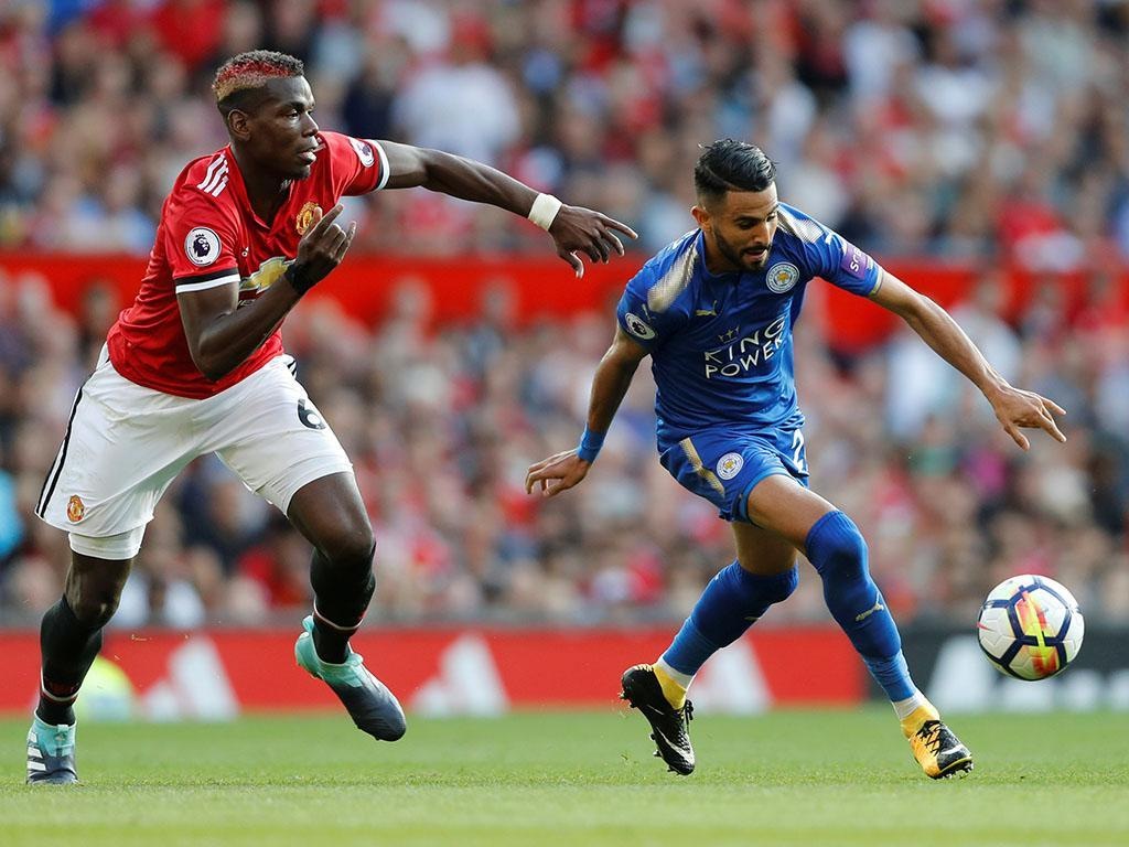 Manchester United-Leicester (Reuters)