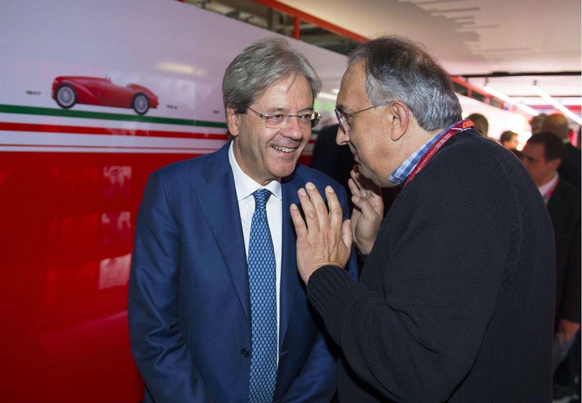Sergio Marchionne com Paolo Gentiloni
