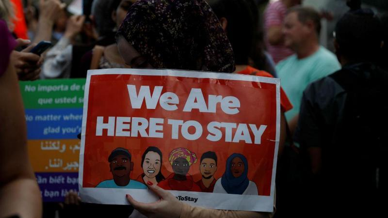 Protesto contra o fim do programa DACA