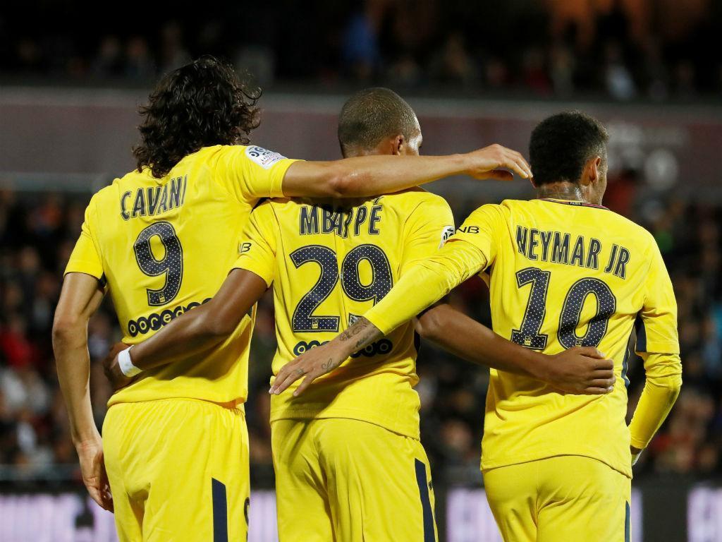 PSG: Cavani, Neymar e Mbappé juntos