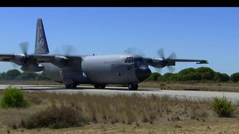 Avião C-130 enviado para resgatar portugueses nas Caraíbas