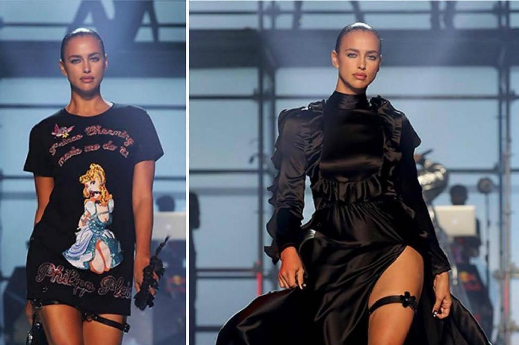 Irina Shayk durante a Semana da Moda de Nova Iorque