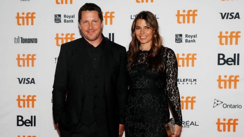 Christian Bale e a mulher, Sibi Blazic, no Festival Internacional de Cinema de Toronto