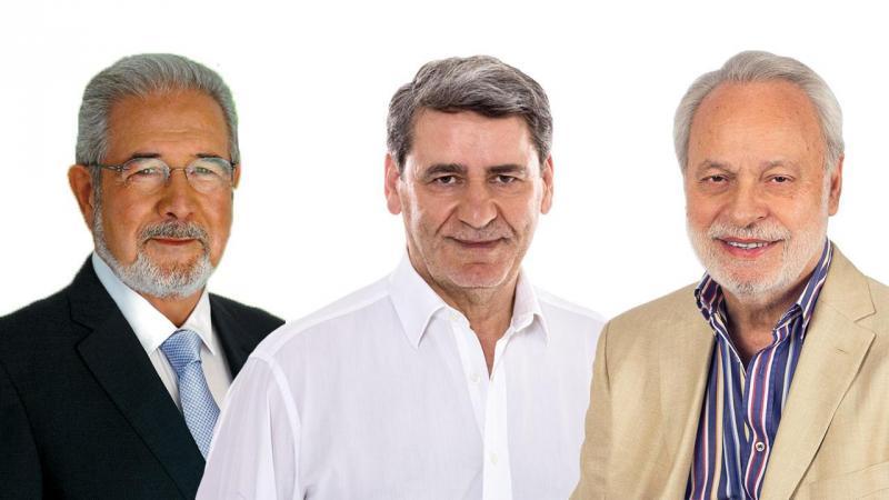 Isaltino Morais, Narciso Miranda e Valentim Loureiro