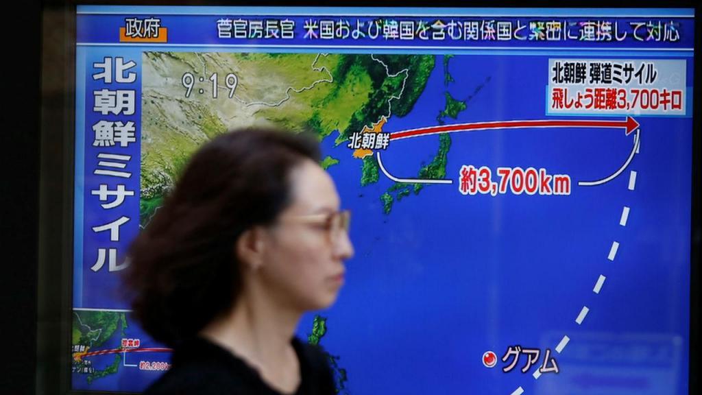 Coreia do Norte lança míssil que sobrevoa Japão