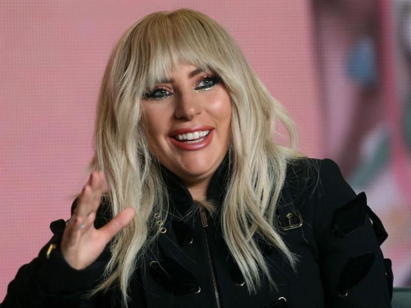 Lady Gaga na conferência de imprensa do documentário