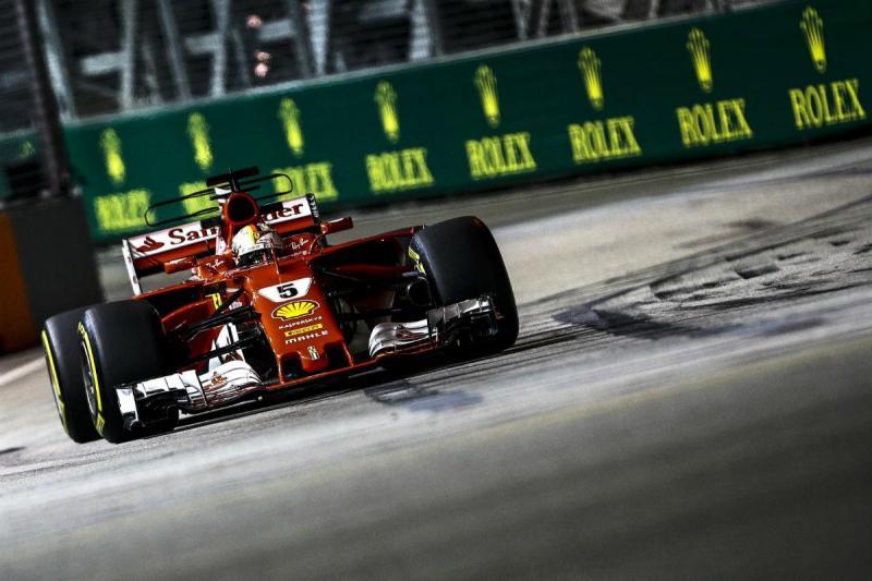 Sebastian Vettel - Ferrari- Singapura