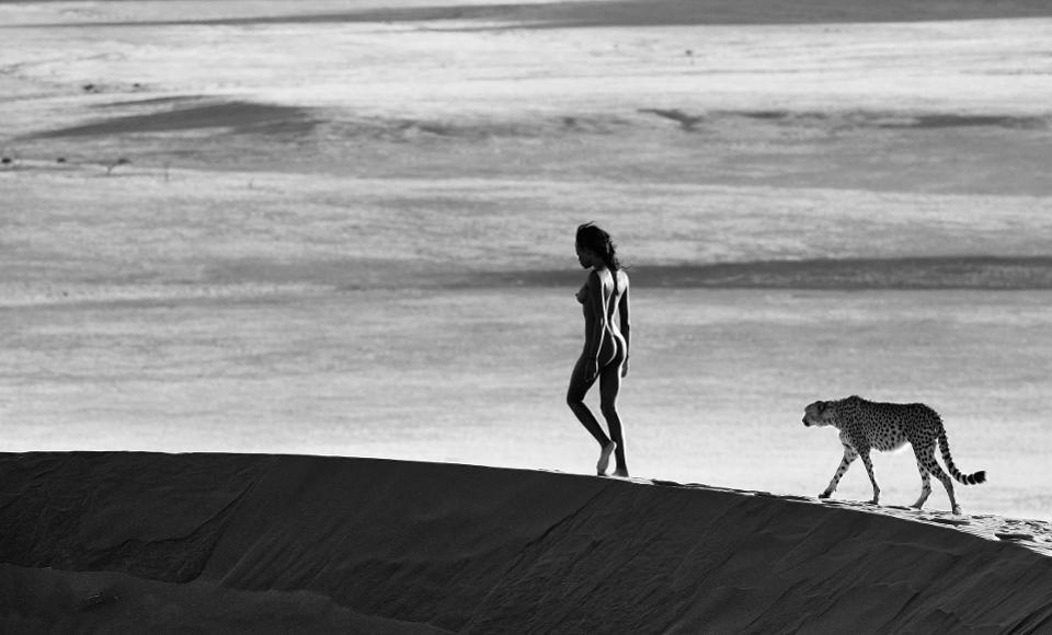 David Yarrow, especializado em fotografia da vida selvagem, expõe as obras em duas galerias diferentes: uma em Londres e outra em Paris.
