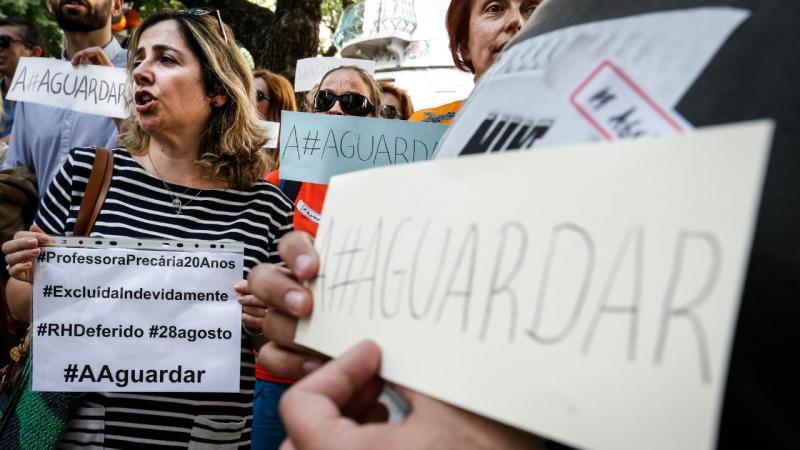 Protesto dos professores