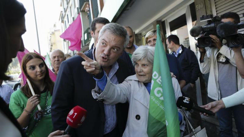 Eduardo Vítor Rodrigues (PS) em campanha para a câmara de Gaia