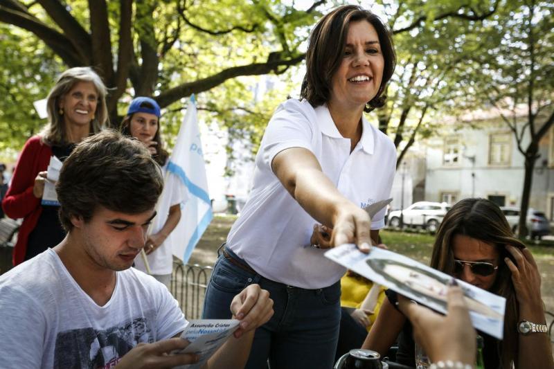 Assunção Cristas (CDS) em campanha para a câmara de Lisboa