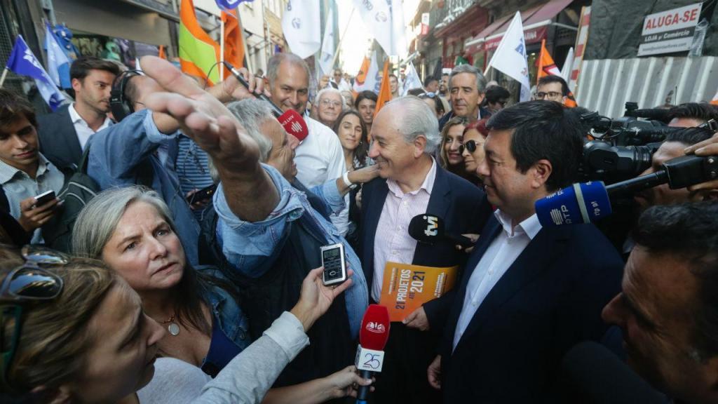 Rui Rio na campanha de Álvaro Almeida (PSD) no Porto